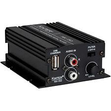 Kinter MA-150 2-Channel Mini Amplifier USB Charger 2x20W