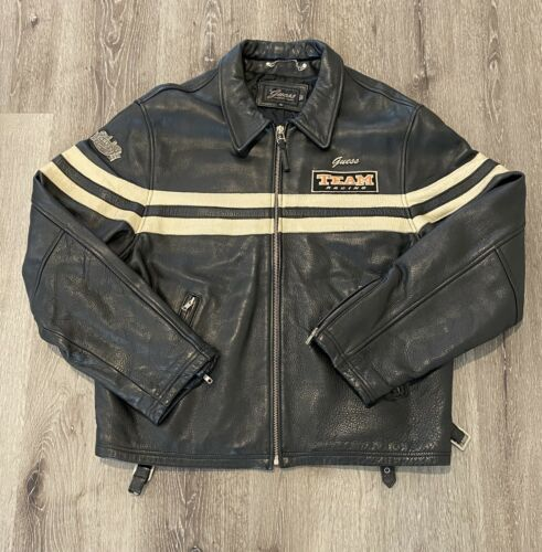 Guess Team Racing Leather Jacket