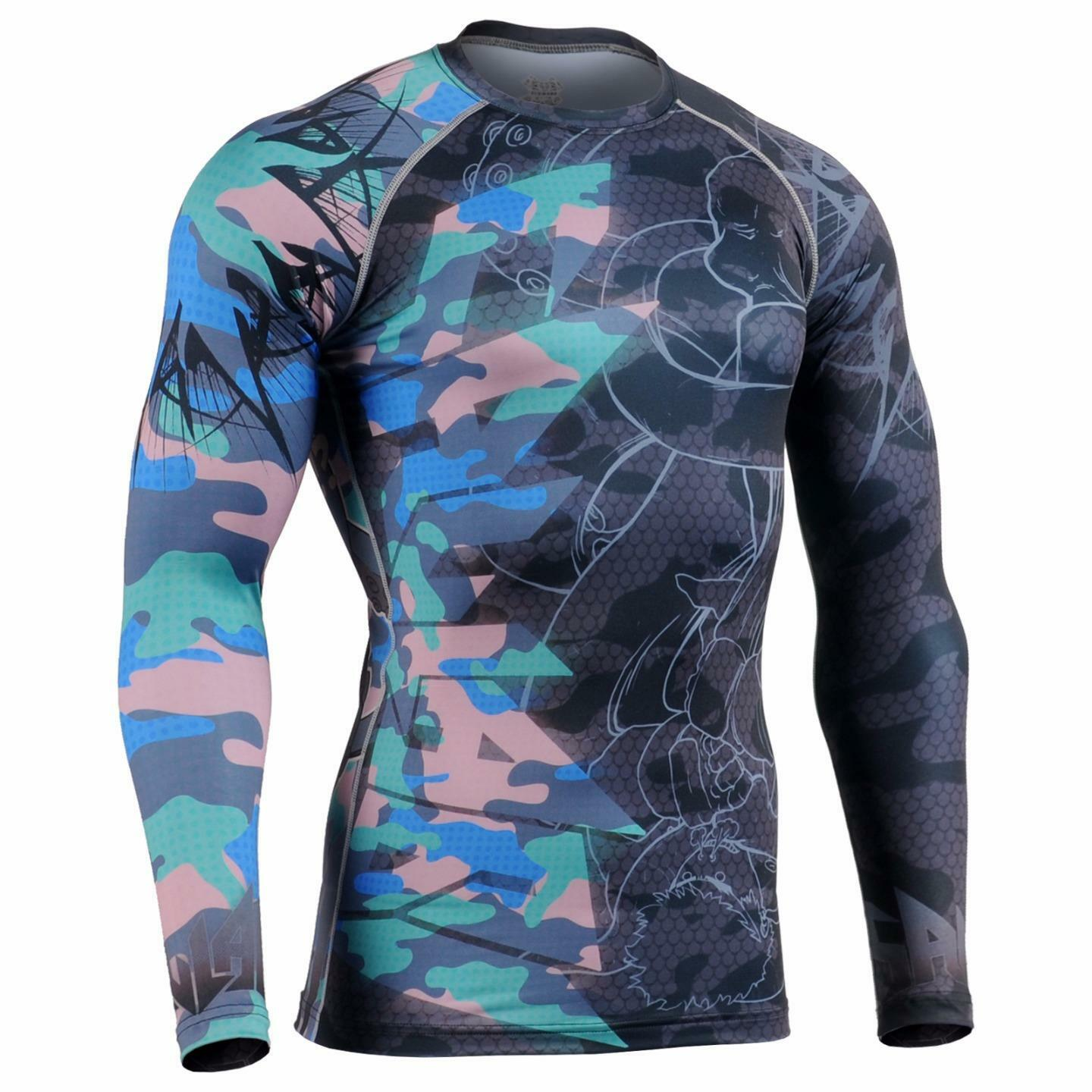 FIXGEAR CFL-H5C Compression Base Layer Shirt Sportswear Bodybuilding Workout GYM
