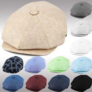 01b34d79e Details about Linen Applejack Cool Summer Newsboy Cap Mens Women's Driving  Golf Hat ENsb2100