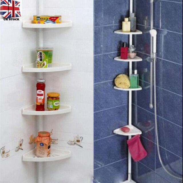 Shower Shelves 4 Layer Corner Bath Shelving Unit Bathroom Shampoo ...