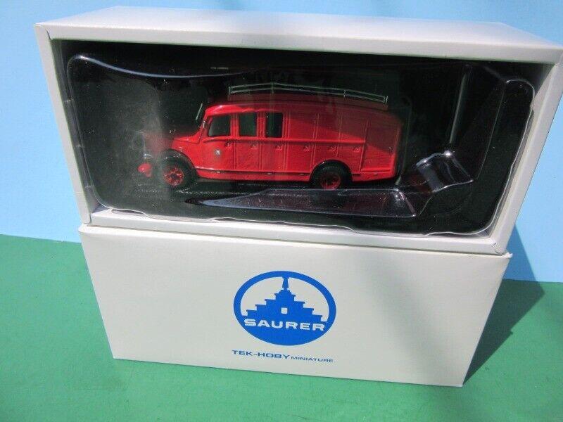 Tek-Hoby TH5322 Saurer 3CT1D Fourgon Feuerwehrauto 1 43 Feuerwehr Zürich cm MIB