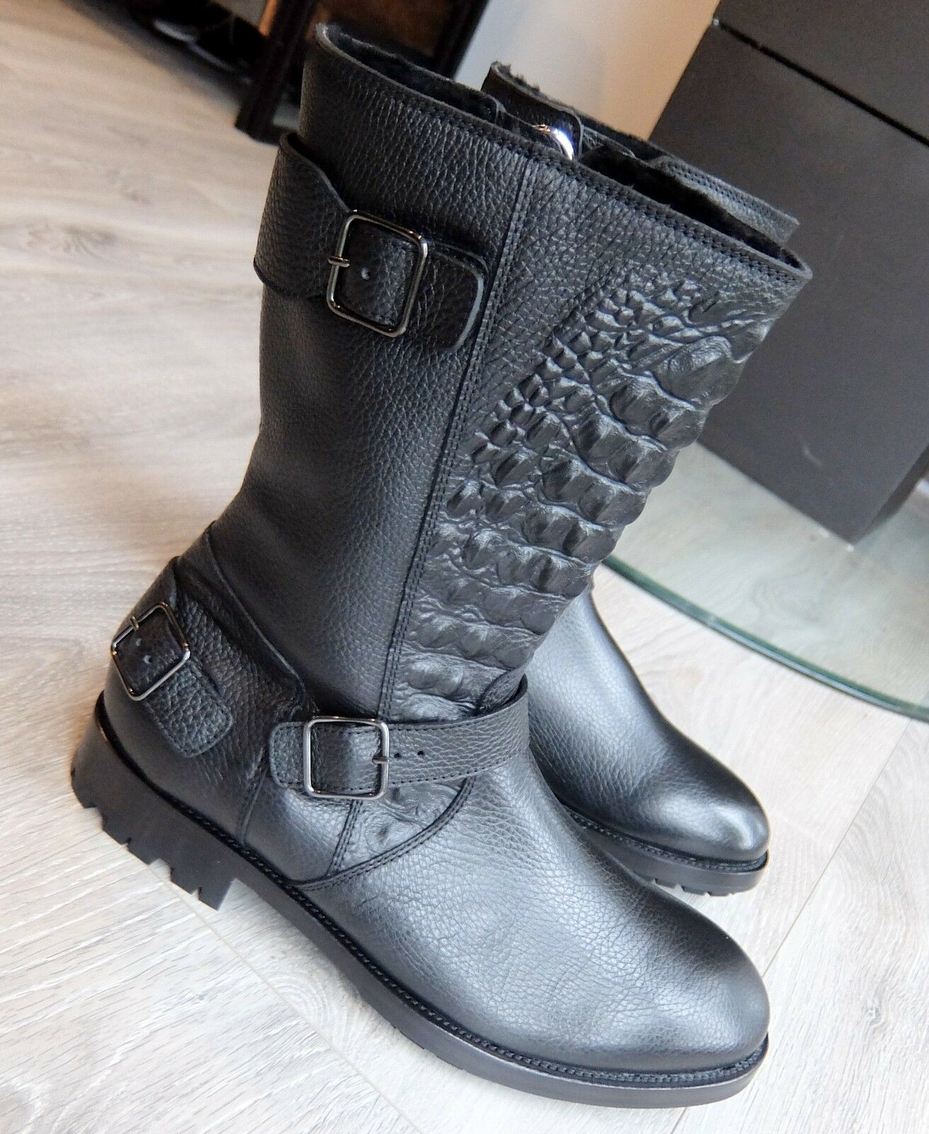 Philipp Plein botas 44 zapatos zapatos cuero Leather botas botas Croco chopard