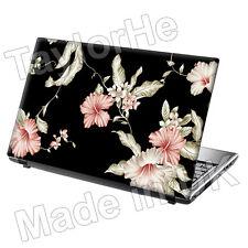 "17"" Laptop Skin Sticker Decal Vintage Pink Flowers 249"