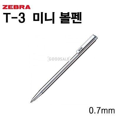 Zebra T-3 Retractable mini Ballpoint Pen 0.7mm Length 10cm
