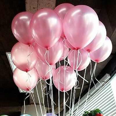 "100x 10"" Colorful Pearl Latex Balloon Celebration Party Wedding Birthday Decor"