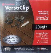 FastenMaster VersaClip Start Stop Clips with Screws and Bit