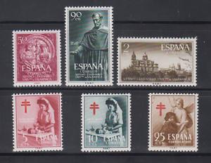 ESPANA-ANO-1953-NUEVO-MNH-SIN-1124-25-SIN-FIJASELLOS