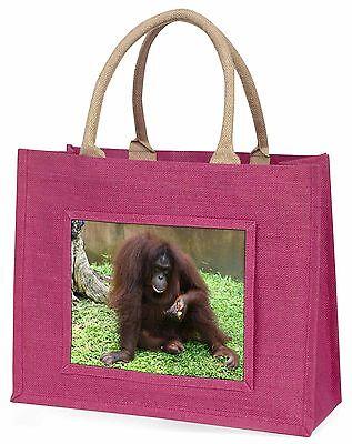 Orang-utan Große Rosa Einkaufstasche Weihnachten Geschenkidee, AM-7BLP