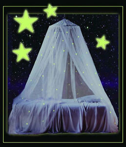 Image is loading Glow-In-Dark-Canopy-Mosquito-Netting-Net-Kids- : kids glow tent - memphite.com