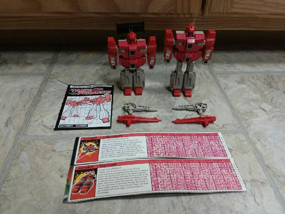 TRANSFORMERS G1 AUTOBOT CLONES CLOUDRAKER & FASTLANE COMPLETE