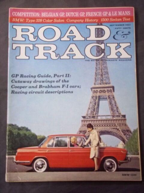 Vintage Road & Track Magazine September 1963 - BMW 1500