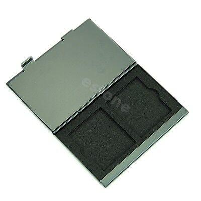 Aluminium Flash Memory SD TF Card Protector Storage Box Case Cover Holder New