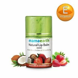 Mamaearth-Natural-Lip-Balm-With-Shea-Butter-amp-Strawberry-4-5-gm-Free-Shipping