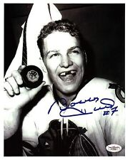 Bobby Hull reprint auto on photo of scoring 50 goals in a single season-WOW!!!