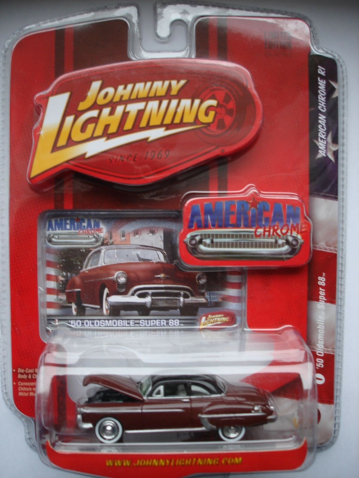 '50 Oldsmobile Super 88 - JOHNNY LIGHTNING AMERICAN CHROME R1 -OVP-  | Online Store