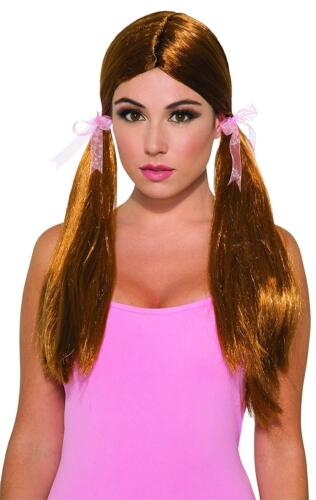 Pigtail Wig Pig Tails Fancy Dress Up Halloween Adult Costume Accessory 3 COLORS