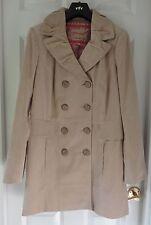 M&S Per Una Pure Cotton Double Breasted Corduroy Jacket, Stone, Size 16, BNWT