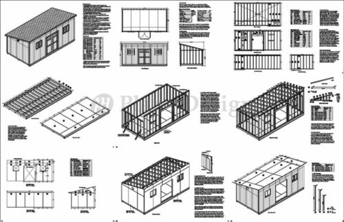 10 X 20 Deluxe Back Yard Storage Shed Project Plans Do It