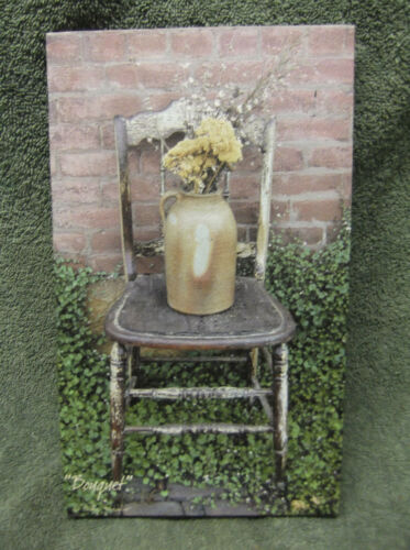 Bouquet Canvas Painting Decor Billy Jacobs Red Brick Wall Chair Flowers Small