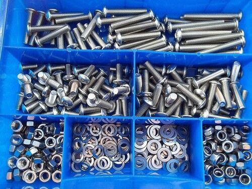 325 325 325 Teile Edelstahl V2A Innensechskant Linsenschrauben ISO 7380 Muttern Box M6 | Wir haben von unseren Kunden Lob erhalten.  ab852e