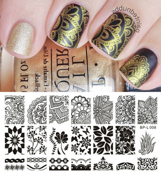BORN PRETTY BPL008 Various Arabesque Nail Art Stamp Template Image Plate