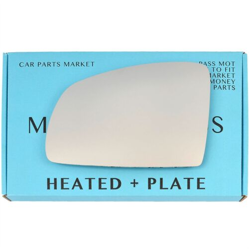 Pour Opel Meriva A 02-10 Côté Gauche Plat électrique aile miroir de verre avec plaque