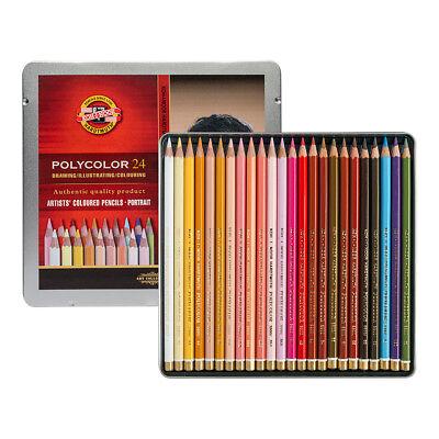 Koh-I-Noor Polycolor Artist Coloured Pencils 3824 Set of 24 Portrait