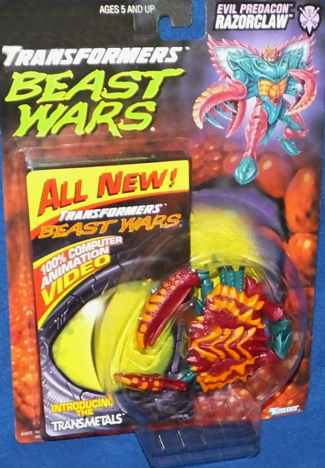Transformers Beast Beast Beast Wars Evil Predacon Razorclaw New 1997 W Video Factory Sealed 061be4