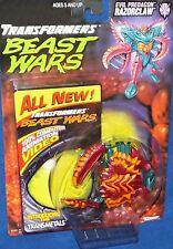 Transformers Beast Wars Evil Predacon Razorclaw New 1997 W Video Factory Sealed