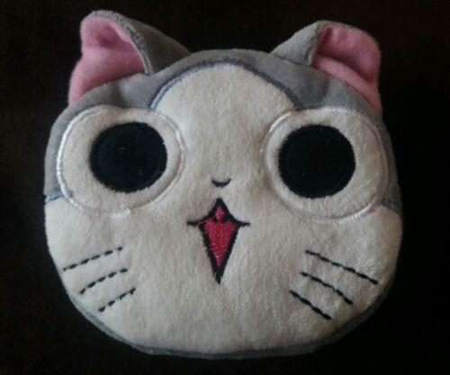 Grey Cat Plush Zipper Purse Gift