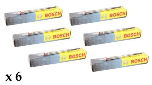 6 x BOSCH DIESEL HEATER GLOW PLUGS for BMW  X3 3.0D 3.0SD 2005-2010