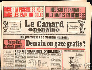 CANARD-ENCHAINE-Birthday-Newspaper-JOURNAL-NAISSANCE-12-SEPTEMBRE-SEPTEMBER-1990