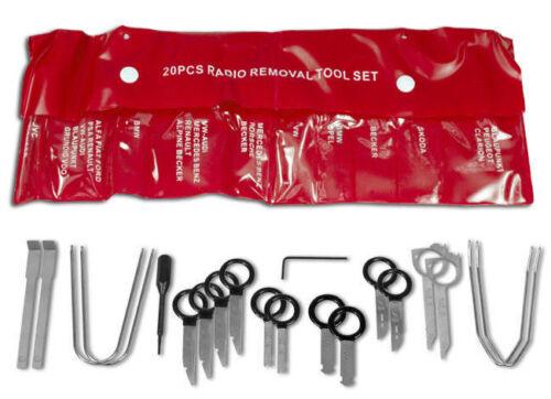 Radio Einbau Ausbau Werkzeug 20 tlg Satz für Navi Montage Demontage Nadel Haken