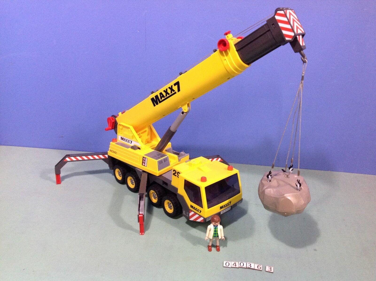 (O4036.3) playmobil Grand camion grue de chantier maxx7 ref 4036