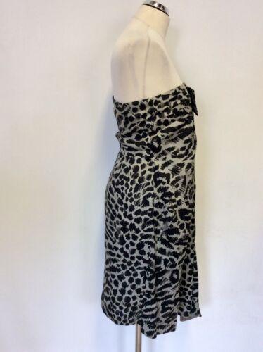 Dress 10 Paul Animal Senza Smith Grey Bnwt Uk Occasion Print spalline Size Black 42 zOdawBxpq