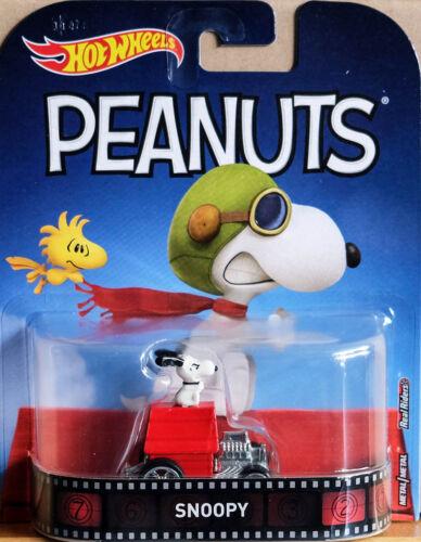 Hotwheels Retro Peanuts Snoopy Alliages et real rider Pneus en Caoutchouc