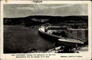 Marathon-Griechenland-alte-s-w-AK-1939-gelaufen-Blick-auf-die-Staumauer