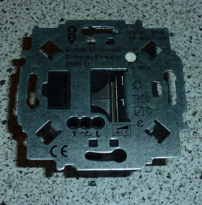Busch-Jaeger Universal-Dimmer-Einsatz  6595 U  Neu in OVP  Keine Versandkosten