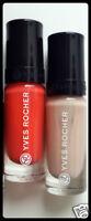 Yves Rocher Botanical Color Nail Polish 2x, Orange Red Capucine & Magnolia Pearl