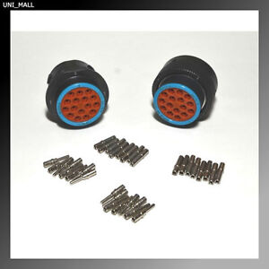 Deutsch Hdp20 16 Pin Genuine Bulkhead Connector Kit 12