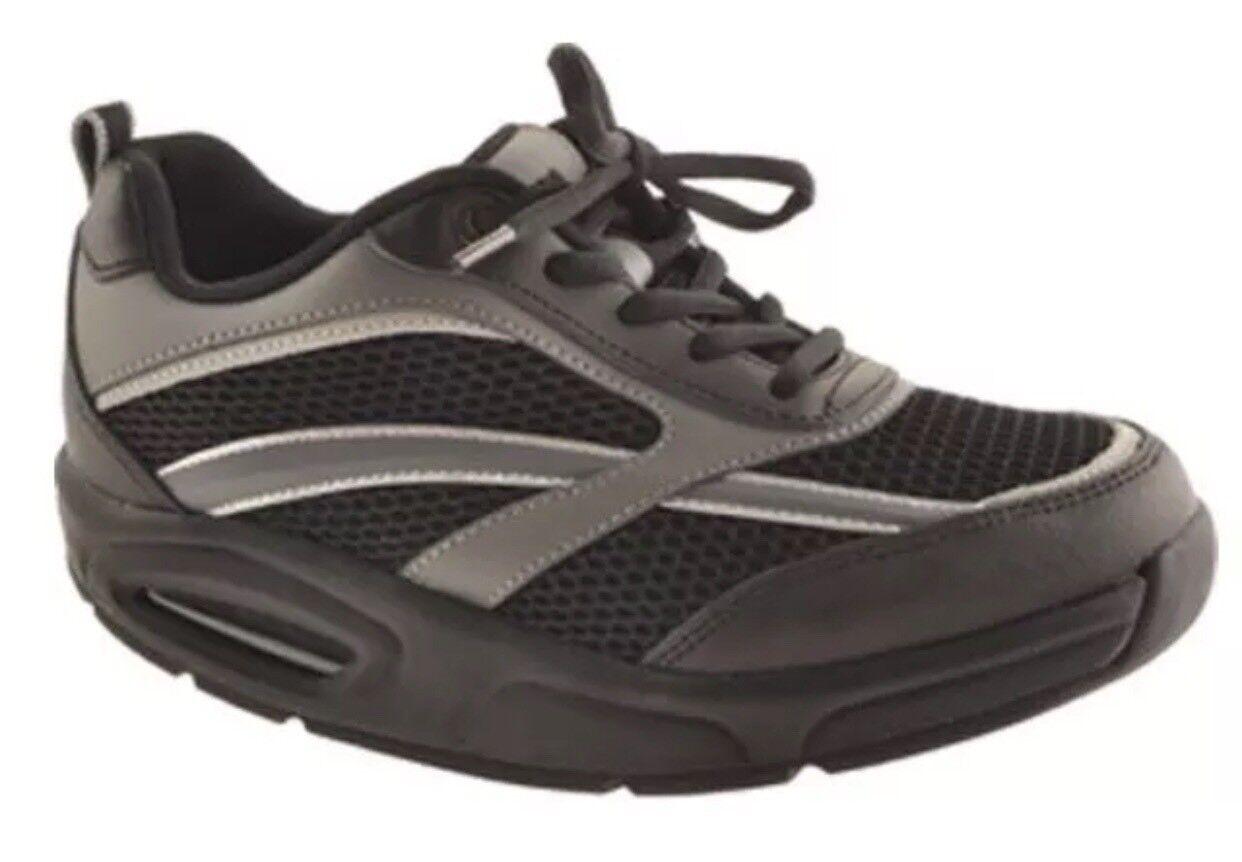 RYN Men's X-Run Athetic Walking shoes Black Charcoal.