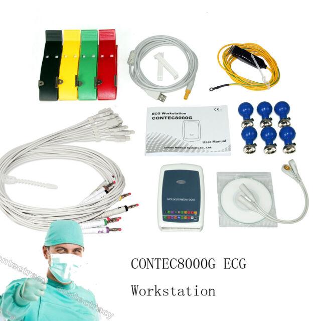 CONTEC8000G ECG/EKG machine Workstation 12 leads ECG System PC Software Analasis