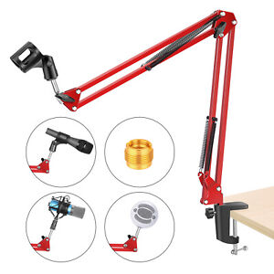 Neewer-NW-35-reglable-Enregistrement-Microphone-Suspension-Scissor-arm-stand-Rouge