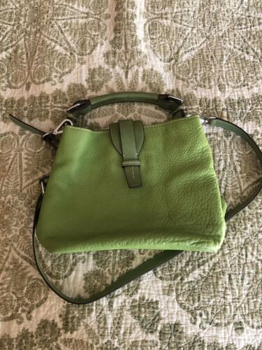 TUMI Lime Green Green Leather  Bag Purse Cross Bod