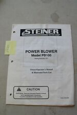 Steiner Pb100 Power Blower Operators And Illustrated Parts Manual