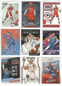 x33-Different-RUSSELL-WESTBROOK-card-lot-Select-Prizm-Inserts-2019-20-Rockets