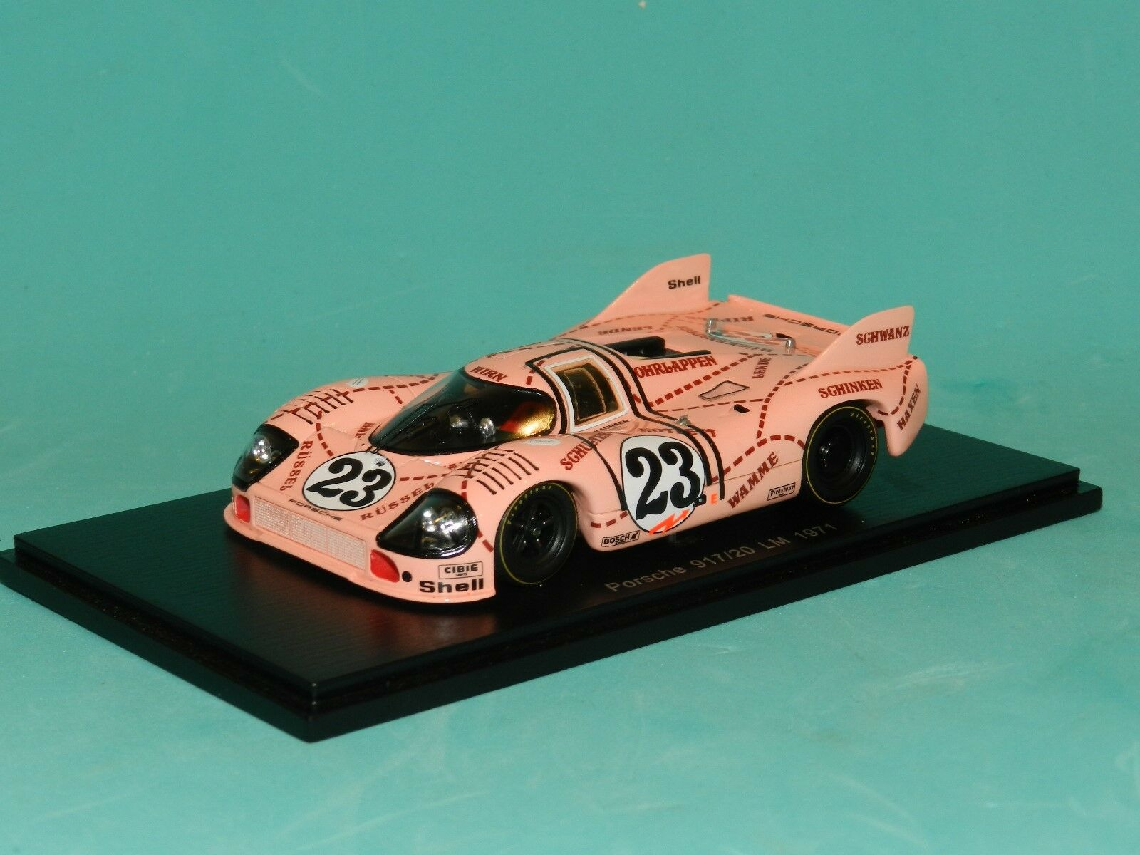 Joest 1:43 Spark Porsche 917//20 Pink Pig #23 24h LeMans 1971 Kauhsen