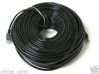 100FT 100 FT RJ45 CAT6 CAT 6 HIGH SPEED ETHERNET LAN NETWORK BLACK PATCH CABLE