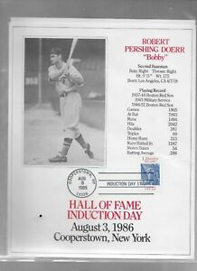 Hall Of Fame Induction Day 8 x 10 Card   BOBBY DOERR Red Sox   Aug 3,1986